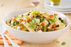 Penne, légumes du soleil et chèvre frais, les recettes de nos chefs