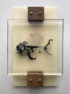 Mech-Fossils – Lex Talkington Fish Sculpture, Wall Sculptures, Abstract Sculpture, Bronze Sculpture, Wood Sculpture, Robot Art, Robots, Steampunk Design, Scrap Metal Art