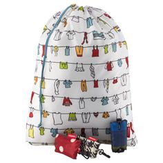 Container Store - Travel Laundry Bag by reisenthel®. How cute is that?! Thinking of using this for swimsuits and towels while at summer day camp.