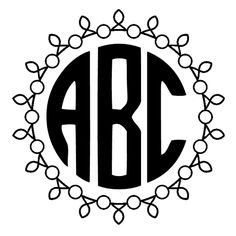 Circle monogram font free. Use our free online monogram generator or download the font. 68 ...
