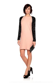 We  love how well the light pink hue and black sequins work together on this Traseau dress by @By Malene Birger. The shift style creates a timeless look full of elegance while the sequins can still prepare you for a night on the town. Hire it here now at @Wish Want Wear here: http://www.wishwantwear.com/dress-hire/by-malene-birger/972-traseau-dress.html
