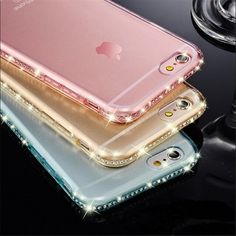 Luxury Ultra Thin Crystal Diamond Bling Gel Transparent Phone Case Cover for iPhone 5 5S 6 6S 7 7 Plus Cover case back bags -- Find out more about the great product at the image link.