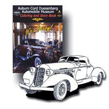 Museum Coloring Book ACD Automobile Museum Auburn, IN