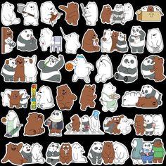 Buy Cute Panda Bear Brother Themed Waterproof Vinyl Guitar Door Laptop Luggage Car Bicycle Scrapbook Stickers A Pack of Preppy Stickers, Cute Laptop Stickers, Cartoon Stickers, Tumblr Stickers, Journal Stickers, Scrapbook Stickers, We Bare Bears Wallpapers, We Bear, Bear Party