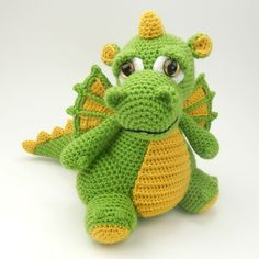 I hope you'll put together great amigurumi dragons models free patterns for you. Everything you can't find in Amigurumi is waiting for you on this site.Amigurumi Crochet Dinosaur Krambambuli Free Pattern - Amigurumi Free Patterns and Amigurumi Tutori Amigurumi Patterns, Crochet Patterns, Amigurumi Doll, Crochet Dragon Pattern, Crochet Dinosaur, Crochet Frog, Little Dragon, Paintbox Yarn, Red Heart Yarn