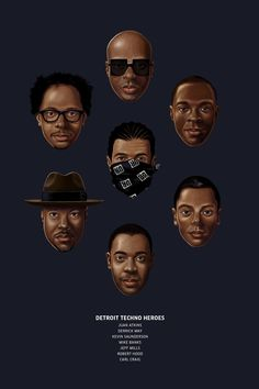 The Illustrated Pantheon of Detroit Techno |Red Bull Music Academy Daily