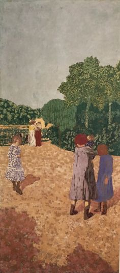 """The Promenade"" Edouard Vuillard, 1894 Edouard Vuillard, Paul Gauguin, Kunsthistorisches Museum, Gustave Courbet, Illustration Art, Illustrations, Pierre Bonnard, Cleveland Museum Of Art, Post Impressionism"