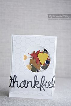 Mini Chicken Wire Background, Thankful Thoughts, Falling Leaves Die-namics - Keisha Campbell #mftstamps