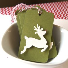 Reindeer Christmas Tags or Package Labels
