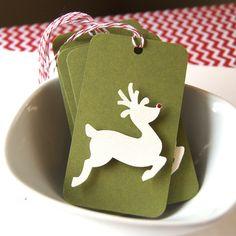 Reindeer Christmas Tags or Package Labels