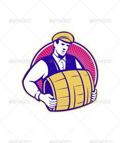 Realistic Graphic DOWNLOAD (.ai, .psd) :: http://vector-graphic.de/pinterest-itmid-1004696080i.html ... Bartender Carrying Beer Keg Retro ...  alcohol, artwork, barkeeper, barman, barrel, bartender, beer, beverage, carry, circle, graphics, illustration, isolated, keg, male, man, retro, worker  ... Realistic Photo Graphic Print Obejct Business Web Elements Illustration Design Templates ... DOWNLOAD :: http://vector-graphic.de/pinterest-itmid-1004696080i.html