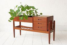 $1150 Arne Vodder Danish Modern Teak Planter with by OtherTimesVintage