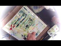 Hola a todos!! He pintado este cuadro a la acuarela sin pincel, he utilizado una jeringuilla. Gracias a esta técnica de pintura con jeringa, se pueden conseg...