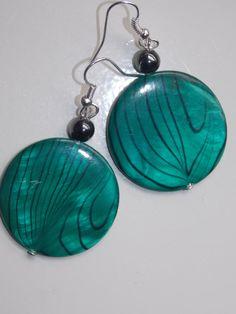 Green Zebra Earrings by EriniJewel on Etsy, $9.00