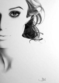 Keira Knightley | 19 Minimal Portraits Of Female Celebrities