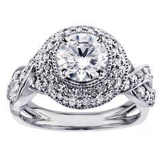 <li>2 carat diamond vintage-era engagement ring</li><li>14k white gold or platinum jewelry</li><li><a href='http://www.overstock.com/downloads/pdf/2010_RingSizing.pdf'><span class='links'>Click here for ring sizing guide</span></a></li>