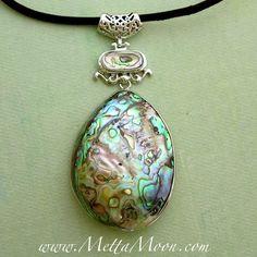 MettaMoon Abalone Half Shell Pendant Necklace LAST DAY OF SALE www.METTAMOON.com
