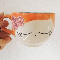 Porcelain Mugs, Ceramic Cups, Ceramic Pottery, Pottery Painting, Ceramic Painting, Flowering Vines, Pottery Designs, Vincent Van Gogh, Etsy Vintage