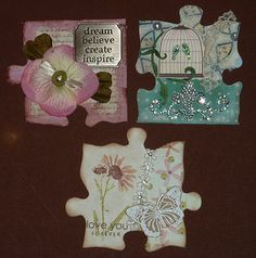 altered jigsaw puzzle pieces