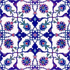 Buy now affordable Turkish ceramic wall tiles for bathroom or kitchen. Turkish Art, Turkish Tiles, Moroccan Tiles, Turkish Decor, Moroccan Lanterns, Portuguese Tiles, Moroccan Decor, Turkish Pattern, Arabic Pattern