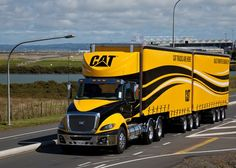 CAT's newest highway unit pulling doubles......