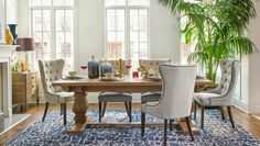 The exclusive Jeff Lewis Collection brings you the refined stle of the Bristol Dining Room.  Available from Walter E. Smithe - Chicago's Furniture and Design Store.