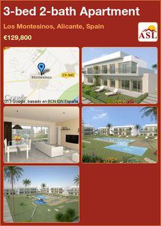 3-bed 2-bath Apartment in Los Montesinos, Alicante, Spain ►€129,800 #PropertyForSaleInSpain