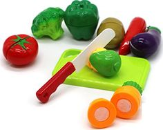 Little Treasures Healthy Vegetables Toy for Children's Playtime Kitchen Fun , Cut Chop the Food for Pretend Play Eating Meal Time * Be sure to check out this awesome product.