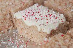 Candy Cane Crunch Rice Krispie Treats