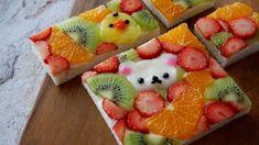 フルーツオープンサンドイッチ(リラックマ乗せ)Fruit open sandwich Mini Tortillas, Fresco, Fruit Sandwich, Cute Fruit, Sweet Pastries, Clay Crafts, Afternoon Tea, Biscotti, Sandwiches