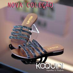 Lindíssima combinação de strass preto, super chic nos pés #koquini #sapatilhas #euquero #rasteirinha Compre Online: http://koqu.in/1QMbOO8