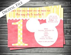 1st Birthday Minnie Mouse Inspired Birthday Invitation by Sassygfx, $15.00
