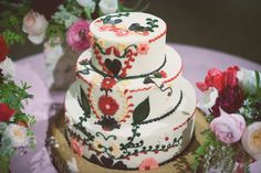 This Beautiful Wes Anderson-Inspired Wedding Is One Of A Kind #refinery29 » This cake is so wonderful!