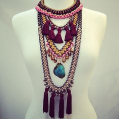 Layered necklaces by Sollis. WWW.SOLLISJEWELLERY.COM