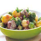 Een heerlijk recept: Gestoofde spruitjes met gehakt en krieltjes