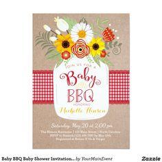 Baby BBQ Baby Shower Invitation, BabyQ Invite
