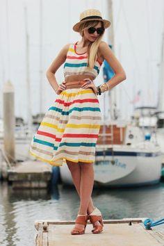 Vestido a rayas para la playa
