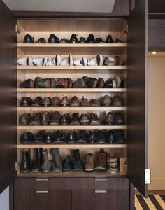 Peter Som's shoe storage shelves