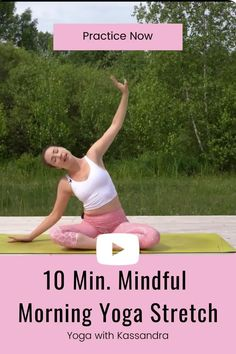 Begin your day with this soothing 10 minute morning yoga routine for mindfulness and positivity. This yoga for flexibility routine will take you through a sequence of stretches to open your body, calm your mind, and start your day with positivity and energy. It's the perfect addition to your at home workout routine. Click through to practice this free online yoga class on our YouTube channel. Learn yoga at home | free yoga workouts | stretching yoga | best yoga online 10 Minute Morning Yoga, Morning Yoga Routine, Flexibility Routine, Yoga For Flexibility, Morning Yoga Stretches, Yin Yoga Sequence, Yoga For Stress Relief, Online Yoga Classes, Yoga For Back Pain