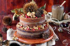 Intrusa na Cozinha: Chestnut-Walnut Naked Cake - Gluten Free {Bolo de Castanha & Noz - Sem Glúten}