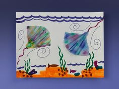 Stingrays gracefully glide through water like flying carpets. Gather friends at a picnic table to create lots of friendly tie-dyed stingrays!