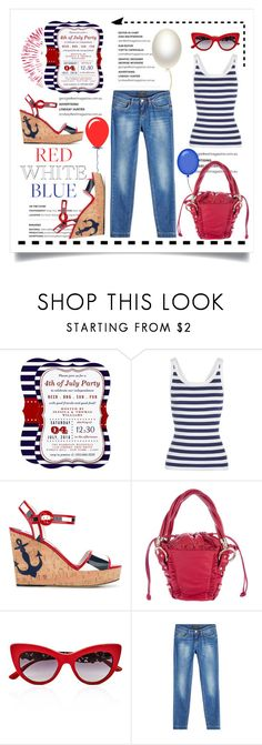 """4th of July Party"" by conch-lady ❤ liked on Polyvore featuring Dolce&Gabbana, redwhiteandblue, fourthofjuly and fourthofjulyparty"