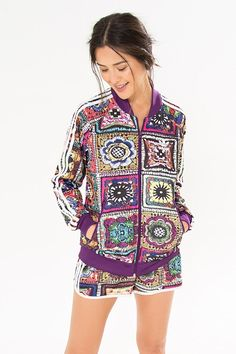 jaqueta crochita adidas | FARM