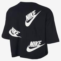 Nike Sportswear Women's Printed Cropped T Shirt Nike Sportswear, Adidas Jacket, Sleeves, Jackets, Tops, Fashion, Down Jackets, Moda, Fashion Styles