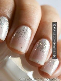"""essie waltz & sparkle essie waltz & sparkle essie waltz & sparkle Great wedding nails, """" how to do your nails for a wedding"""" manicure for bride, Wedding Manicure, Wedding Nails Design, Wedding Makeup, Nail Wedding, Prom Makeup, Wedding Beach, Sparkle Wedding, Wedding Gold, Wedding Designs"""