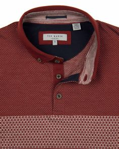Pete: DATE POLO Jacquard Polo from Ted Baker The better polo w/jacquard and contrast woven at interior collar.