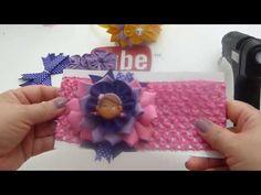 Balacas para bebes con flores de liston - YouTube
