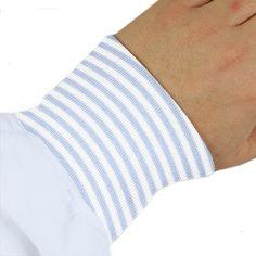 Bündchen Mini Stripes 1 - Baumwolle - Elasthan - hellblau
