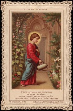 The Divine Gardener Holy Card Heaven