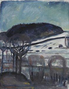 Edvard Munch - Ekely Winter Night, 1919 - Harvard Art Museum, Busch-Reisinger Museum, Cambridge MA